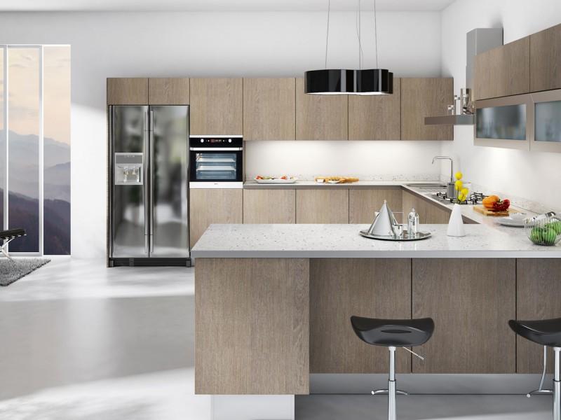 kuchyňská vyrobena za použití laminované desky